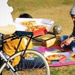 自転車でピザを買いに行くならコレ!変幻自在の次世代自転車リアキャリア爆誕!?